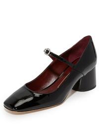 Zapatos de tacón de cuero negros de Marc Jacobs