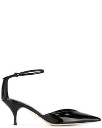 Zapatos de tacón de cuero negros de Nina Ricci