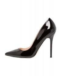 Zapatos de Tacón de Cuero Negros de Office
