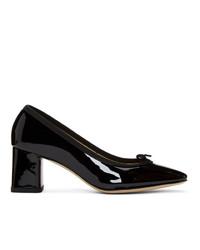 Zapatos de tacón de cuero negros de Repetto