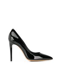 Zapatos de tacón de cuero negros de Salvatore Ferragamo