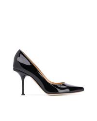 Zapatos de Tacón de Cuero Negros de Sergio Rossi