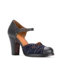 Zapatos de Tacón de Cuero Negros de Chie Mihara