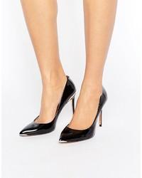 Zapatos de Tacón de Cuero Negros de Ted Baker