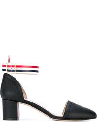 Zapatos de tacón de cuero negros de Thom Browne
