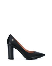 Zapatos de tacón de cuero negros de Tommy Hilfiger