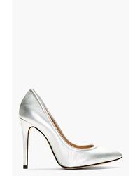 Zapatos de tacón de cuero plateados de IRO