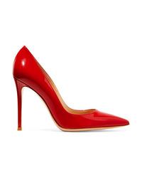 Zapatos de tacón de cuero rojos de Gianvito Rossi
