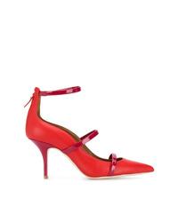 Zapatos de tacón de cuero rojos de Malone Souliers