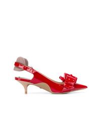 Zapatos de tacón de cuero rojos de N°21