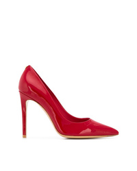 Zapatos de tacón de cuero rojos de Salvatore Ferragamo