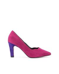 Zapatos de tacón de cuero rosa de Loveless
