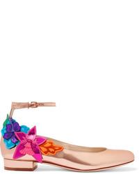 Zapatos de Tacón de Cuero Rosa de Sophia Webster