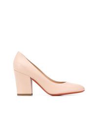 Zapatos de tacón de cuero rosados de Baldinini