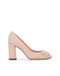 Zapatos de tacón de cuero rosados de Bally