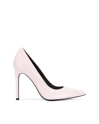 Zapatos de tacón de cuero rosados de Calvin Klein Jeans