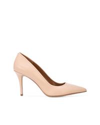 Zapatos de tacón de cuero rosados de Coach