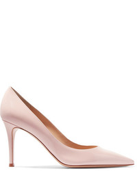Zapatos de Tacón de Cuero Rosados de Gianvito Rossi