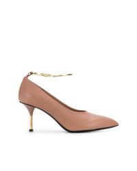 Zapatos de tacón de cuero rosados de Jil Sander