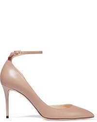 Zapatos de Tacón de Cuero Rosados de Jimmy Choo