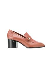 Zapatos de tacón de cuero rosados de Laurence Dacade