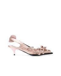 Zapatos de tacón de cuero rosados de N°21