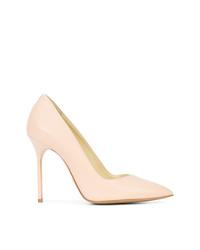 Zapatos de tacón de cuero rosados de Sarah Flint
