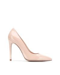 Zapatos de tacón de cuero rosados de Stuart Weitzman