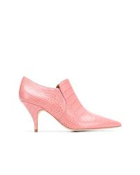 Zapatos de tacón de cuero rosados de Tory Burch