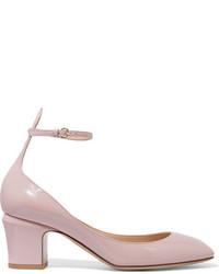 Zapatos de Tacón de Cuero Rosados de Valentino