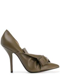 Zapatos de tacón de cuero verde oliva de No.21