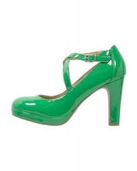 Zapatos de Tacón de Cuero Verdes de Anna Field