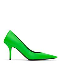 Zapatos de tacón de cuero verdes de Balenciaga