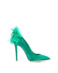 Zapatos de tacón de cuero verdes de Olgana