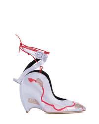 Zapatos de tacón de cuero violeta claro de Liudmila