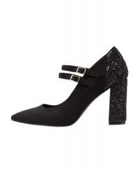 Zapatos de Tacón de Encaje Negros de Anna Field