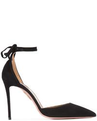 Zapatos de Tacón de Encaje Negros de Aquazzura