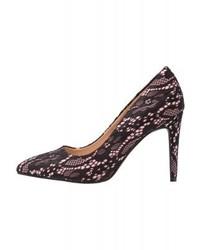 Zapatos de Tacón de Encaje Negros de Dorothy Perkins