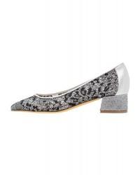 Zapatos de Tacón de Encaje Negros de Hegos