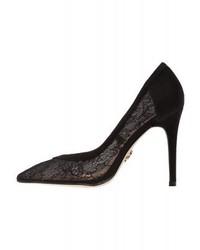 Zapatos de Tacón de Encaje Negros de Lipsy