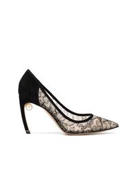 Zapatos de Tacón de Encaje Negros de Nicholas Kirkwood