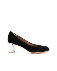 Zapatos de tacón de lona negros de See by Chloe