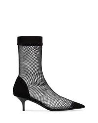 Zapatos de tacón de malla negros de Stella McCartney