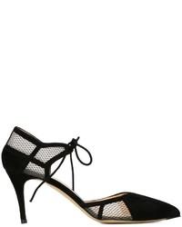 Zapatos de Tacón de Malla Negros