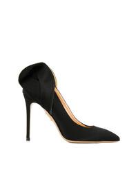 Zapatos de tacón de satén negros de Charlotte Olympia