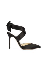 Zapatos de Tacón de Satén Negros de Sarah Flint