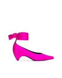 Zapatos de tacón de satén rosa de Stella McCartney