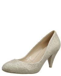 Zapatos de tacón dorados de Dorothy Perkins