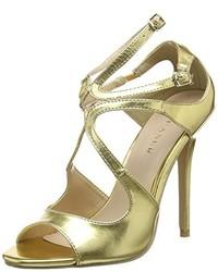 Zapatos de tacón dorados de Pleaser