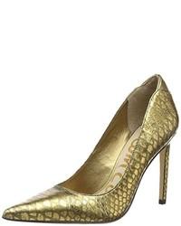 Zapatos de tacón dorados de Sam Edelman
